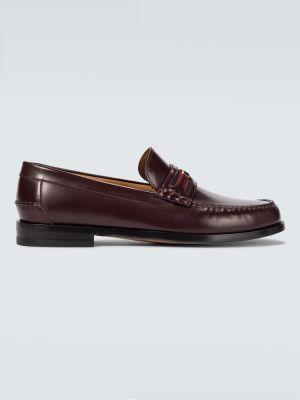 Loafers - czerwone Gucci