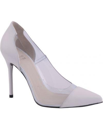 Кожаные туфли на каблуке силиконовые Stuart Weitzman