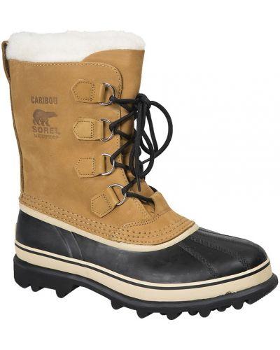 Зимние ботинки кожаные с высоким голенищем Sorel