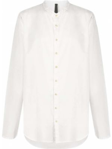 Ватная хлопковая белая рубашка с длинными рукавами Poème Bohémien