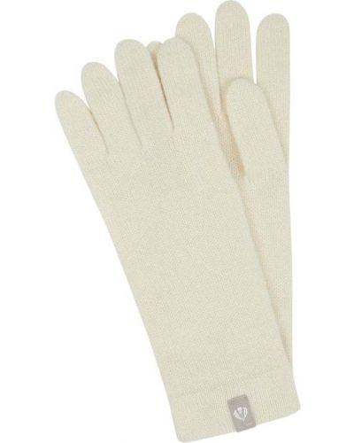 Z kaszmiru rękawiczki - białe Fraas