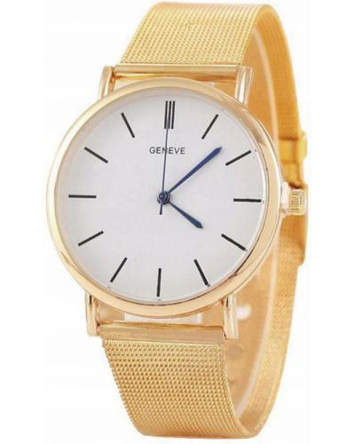Biały klasyczny zegarek z siateczką Geneva