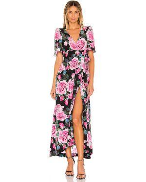 Różowa sukienka kopertowa z printem Selkie
