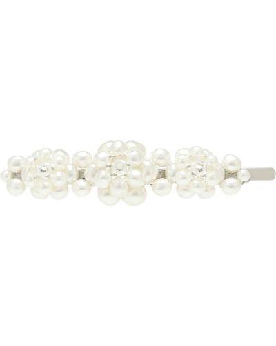 Spinka do włosów z perłami biały Simone Rocha