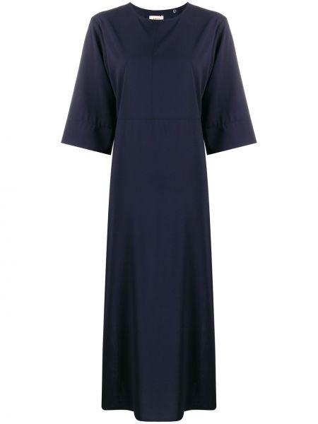 Платье макси синее с рукавами Barena