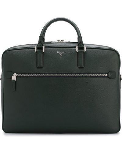 Кожаная сумка для ноутбука с отделениями Serapian