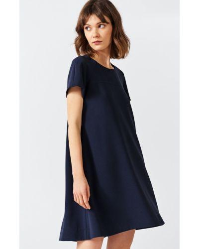 Платье мини с вырезом расклешенное Simple