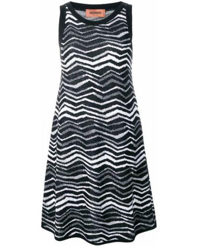 Платье в рубчик с узором Missoni