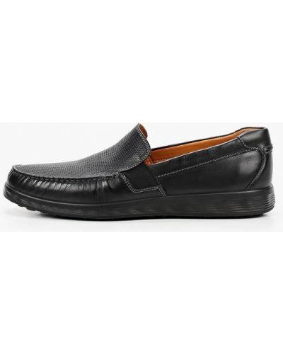 Черные кожаные мокасины Ecco