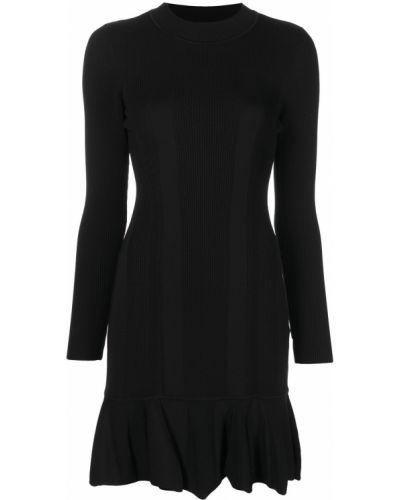 Платье макси с длинными рукавами - черное Nicole Miller