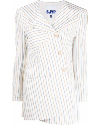 Пиджак длинный - белый Sjyp