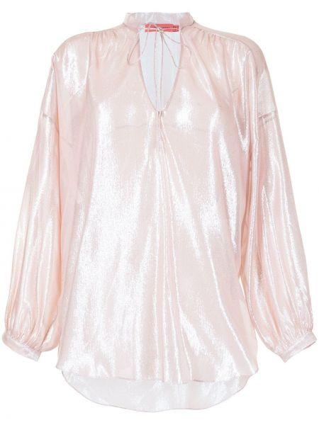Шелковая блузка - розовая Manning Cartell