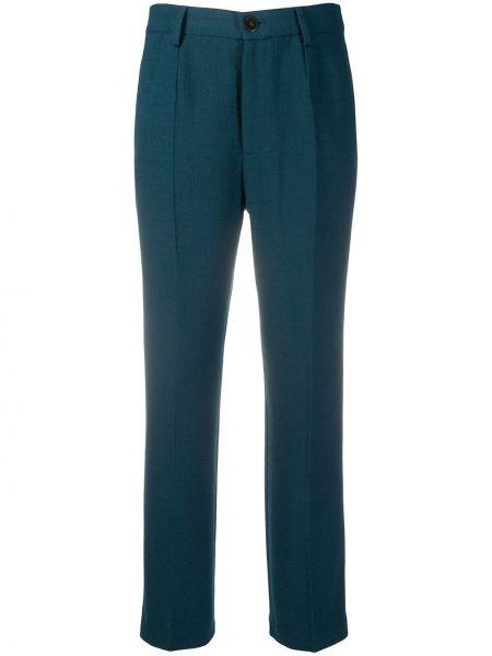 Прямые с завышенной талией укороченные брюки с карманами Forte Forte