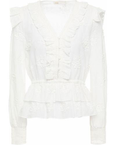 Кружевная блузка - белая Maje