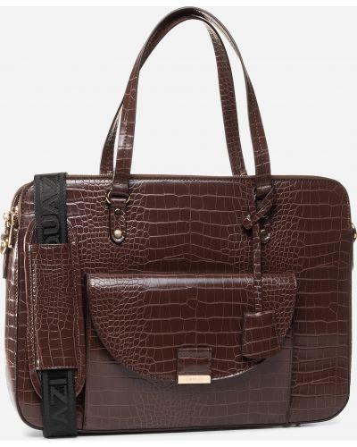 Кожаная сумка - коричневая Quazi