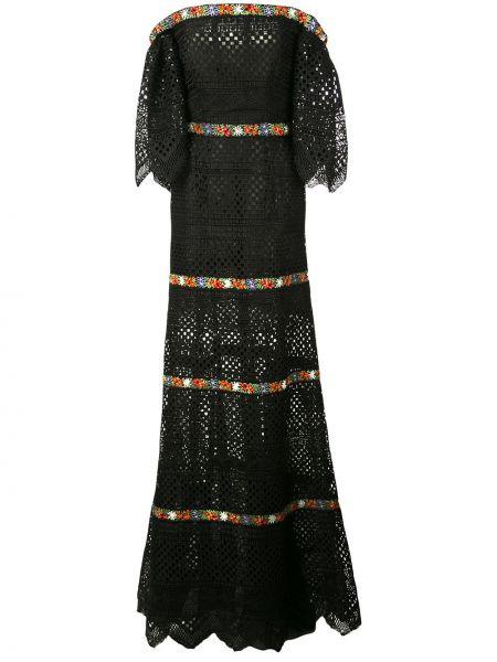 Вечернее платье с вышивкой с цветочным принтом Carolina Herrera