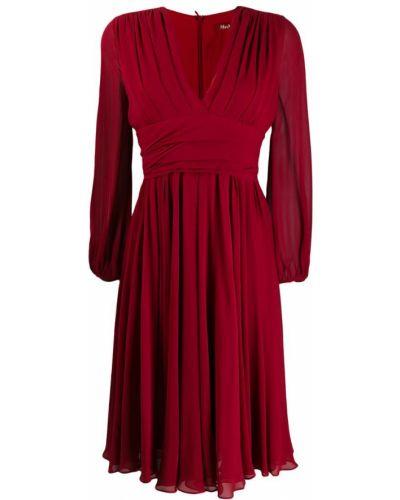 Шелковое платье макси - красное Max Mara Studio