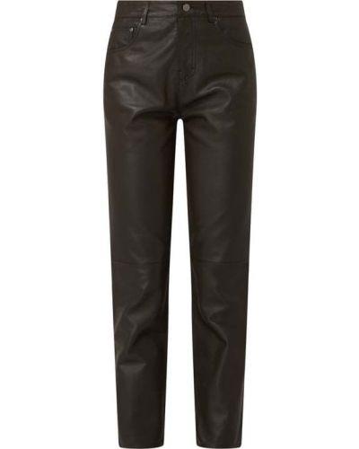 Brązowe spodnie skorzane Oakwood