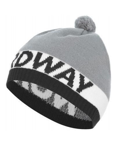 Серая шерстяная спортивная шапка для бега Nordway