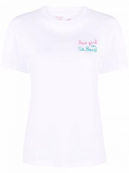 Хлопковая прямая белая футболка Mc2 Saint Barth