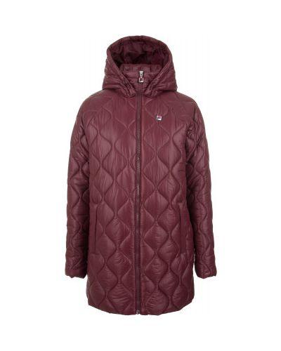 Утепленная куртка с капюшоном длинная Fila
