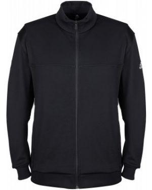 Теннисный черный спортивный джемпер на молнии с капюшоном Adidas