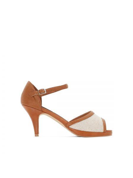Туфли на высоком каблуке кожаные на каблуке Anne Weyburn