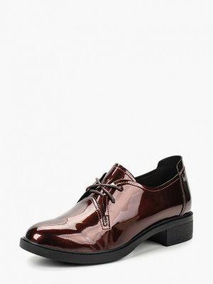 Туфли на каблуке кожаные коричневый Chezoliny