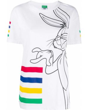 Хлопковая футболка - белая Benetton