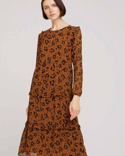 Джинсовое платье - красное Tom Tailor Denim