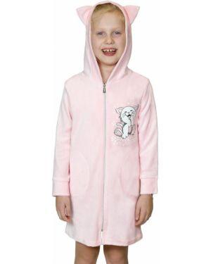 Повседневный с рукавами хлопковый халат на молнии Lika Dress
