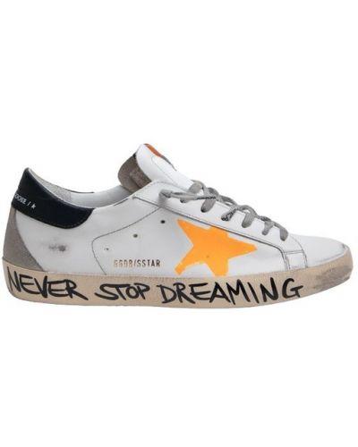Białe sneakersy skorzane Golden Goose