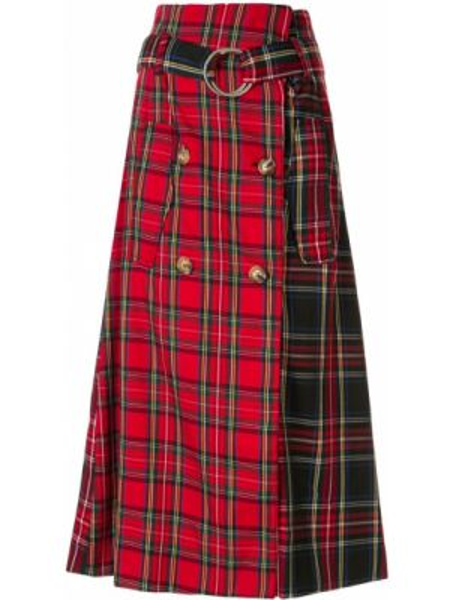 Юбка миди с завышенной талией шотландка Andrea Crews