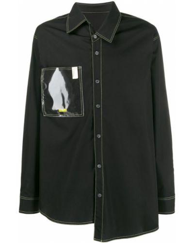 Классическая черная рубашка на пуговицах Wwwm