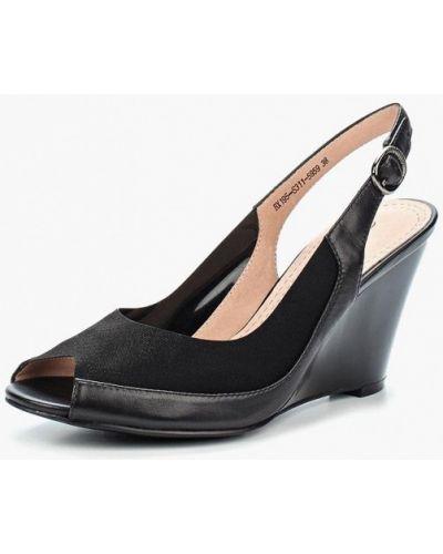 Черные босоножки на каблуке Berkonty
