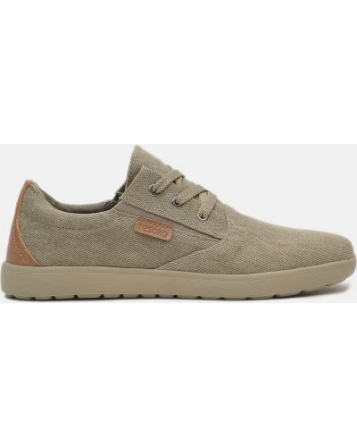 Бежевые ботинки на шнуровке Tesoro
