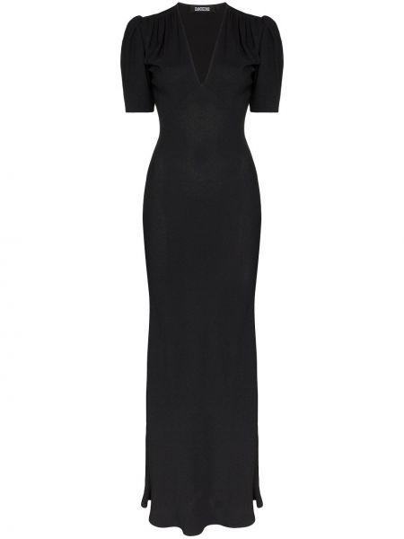 Приталенное классическое вечернее платье в рубчик на молнии Rockins