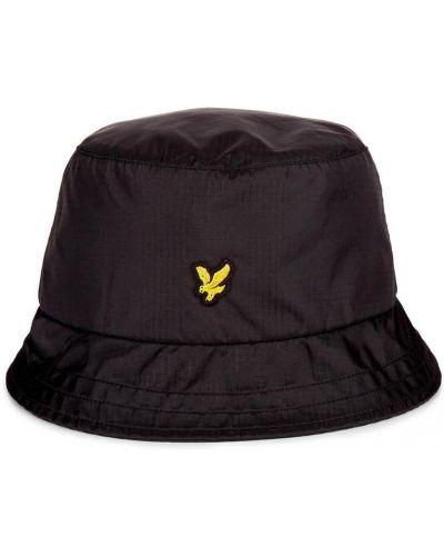Czarna czapka boho Lyle & Scott
