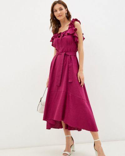 Фиолетовое платье осеннее Imocean