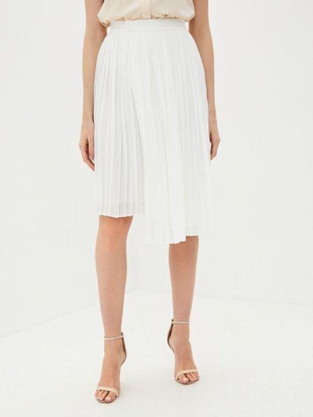 Белая плиссированная юбка снежная королева
