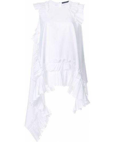 Блузка без рукавов с рюшами асимметричная Alexander Mcqueen