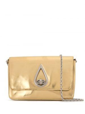 Кожаная лаковая желтая сумка через плечо на молнии Kenzo Pre-owned