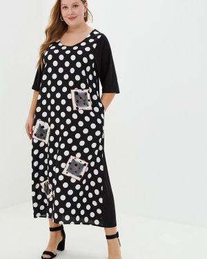 Платье прямое черное Артесса