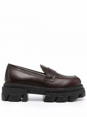 Коричневые резиновые туфли P.a.r.o.s.h.