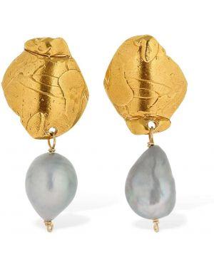 Kolczyki pierścionki kolczyki ze sztyftem z perłami Alighieri