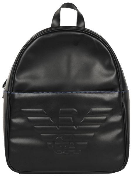 Рюкзак черный на молнии Emporio Armani