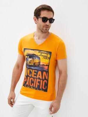 Оранжевая зимняя футболка Hopenlife
