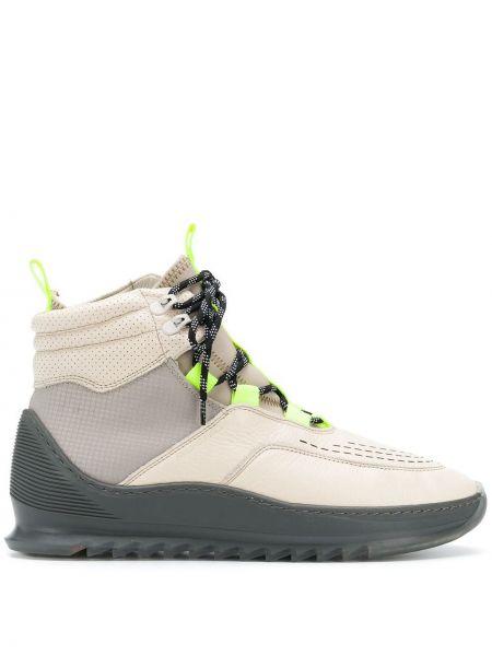 Кожаные кроссовки - бежевые Filling Pieces