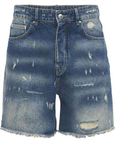Niebieskie jeansy bawełniane Flaneur Homme