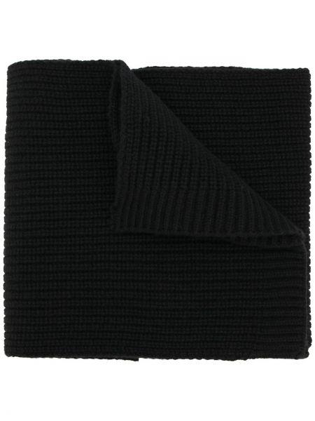 Prążkowany z kaszmiru czarny szalik Falke